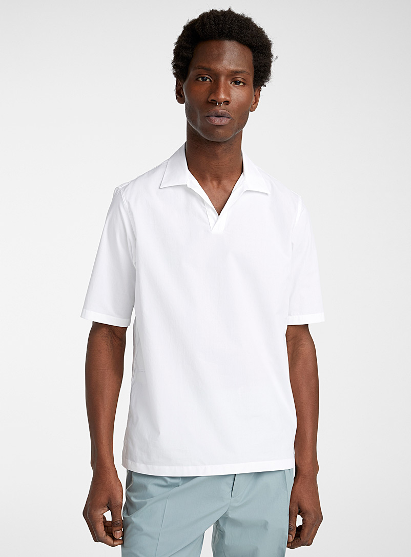 Officine Générale White Yann shirt for men