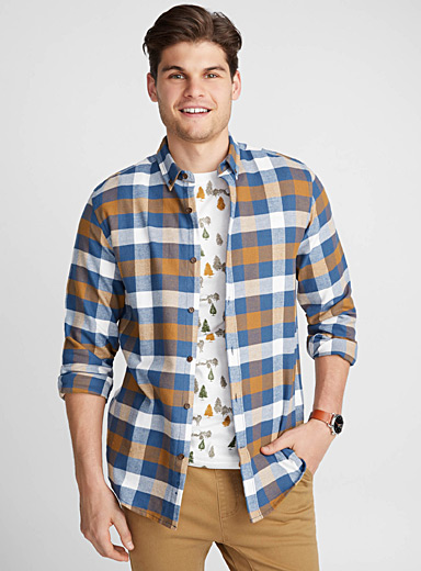Check flannel shirt  Semi-tailored fit