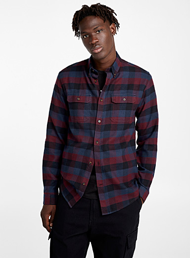 Check-flannel organic cotton shirt
