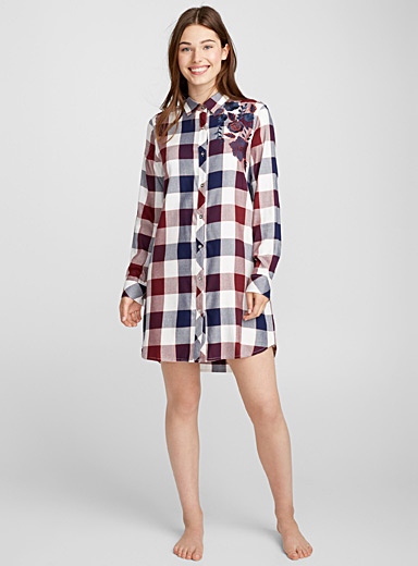 Rustic check nightshirt