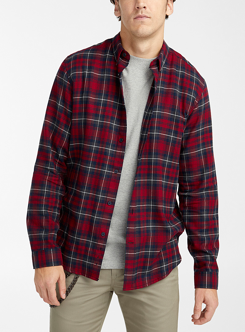 Djab Ruby Red Check flannel shirt for men