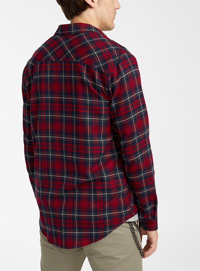 Djab Red Check flannel shirt for men