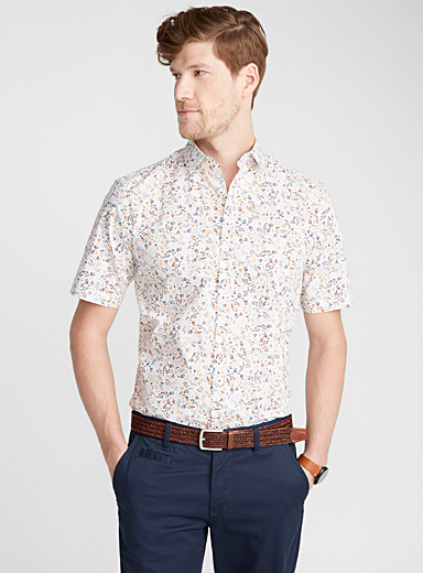 Colourful flower shirt  Modern fit