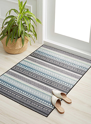 Soft mint stripe rug  90 cm x 130 cm