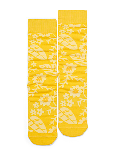 Hawaiian flora socks