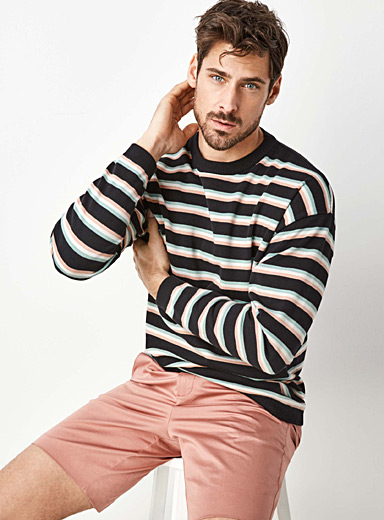 Le pull rayures trio