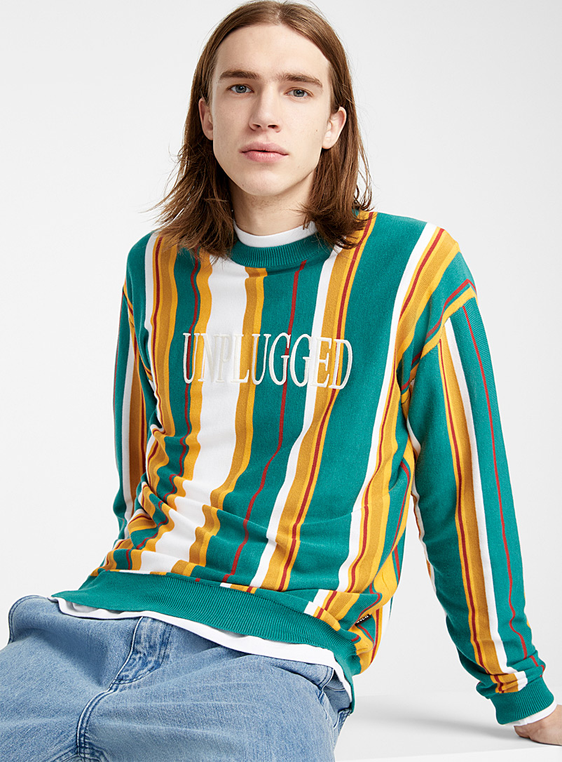 embroidered-message-striped-sweater