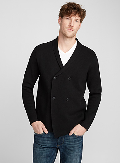 Le cardigan double boutonnage