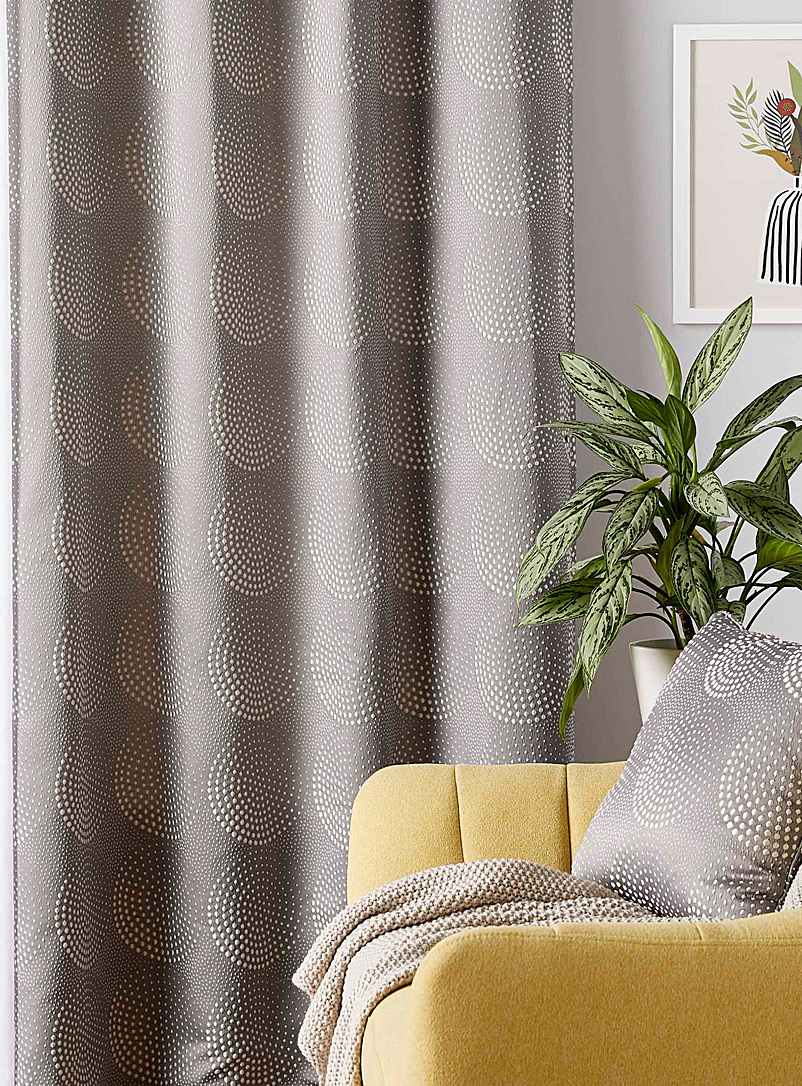 Pearl medallion curtain  130 x 220 cm - Printed - Grey