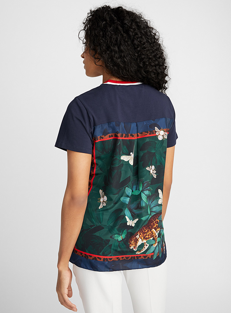 Lebby exotic jungle tee - Short Sleeves & ¾ Sleeves - Marine Blue