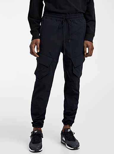 Reigning Champ Black Stretch nylon cargo pant for men