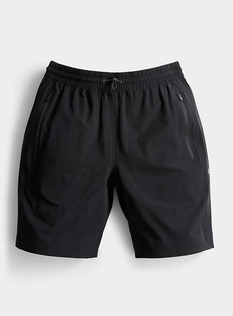 Reigning Champ Black Team stretch nylon short for men