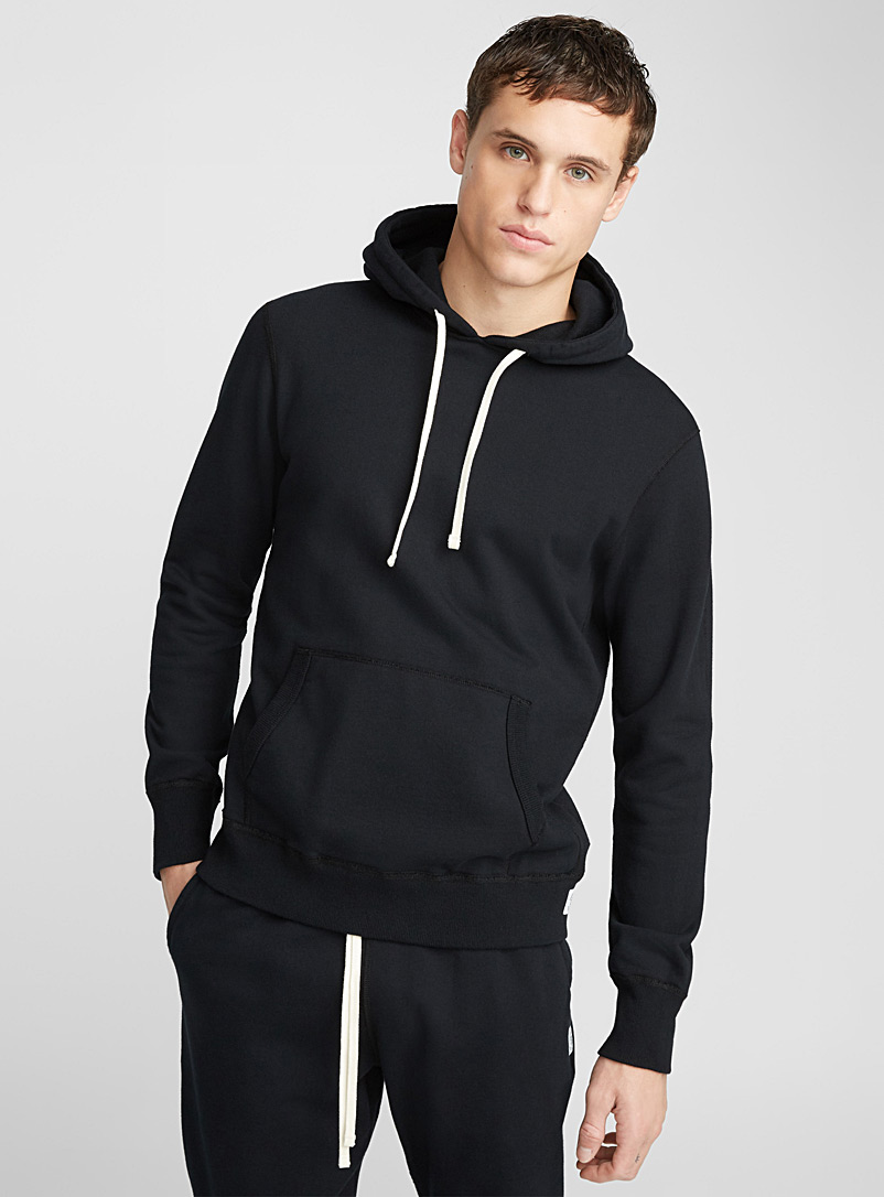 Reigning Champ Black Minimalist hoodie for men