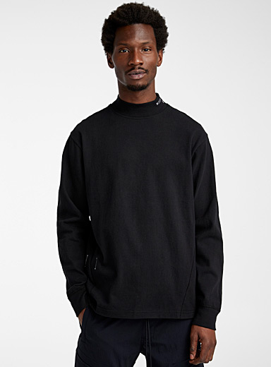 Reigning Champ Black Graphic seaming high neck for men