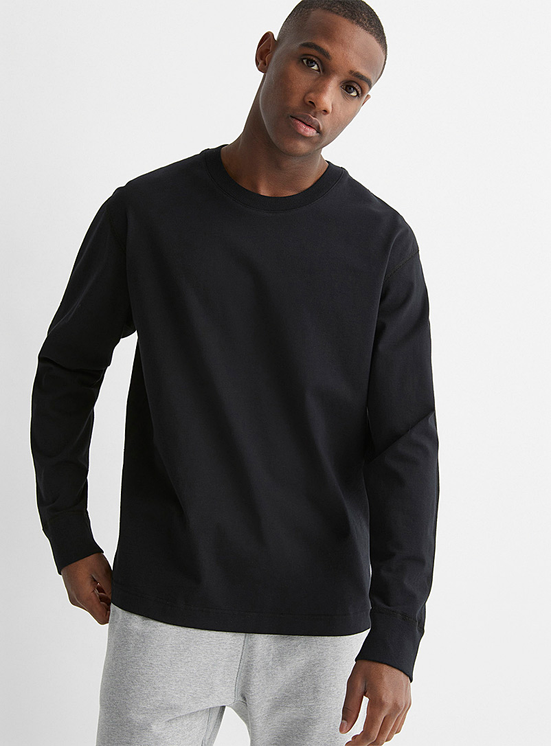 Reigning Champ Black Minimalist T-shirt for men