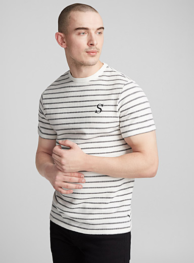 Etched stripe T-shirt