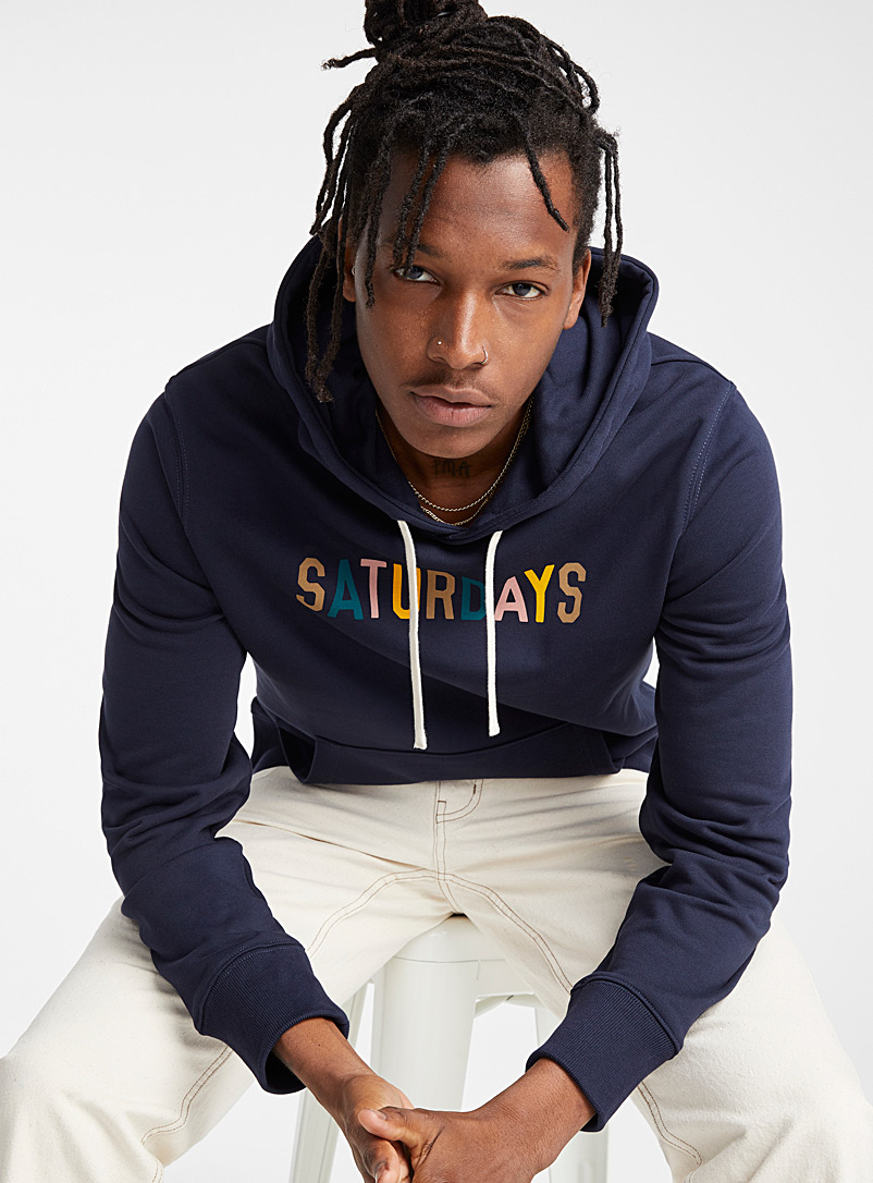 Multi-coloured signature hoodie - Sweatshirts & Hoodies - Marine Blue