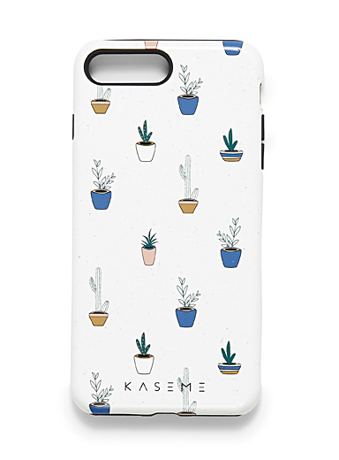 KaseMe Patterned white  iPhone 7/8 Plus case for women