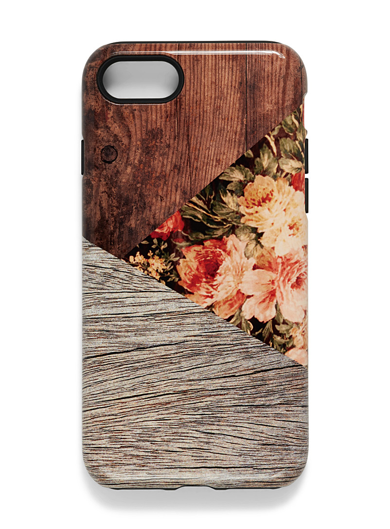 Playful iPhone 7/8 case - Assorted Extras - Patterned Brown