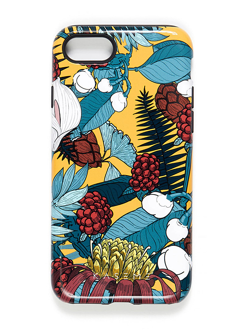 Playful iPhone 7/8 case - Assorted Extras - Patterned Yellow