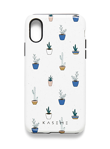 KaseMe Patterned white  Spectacular nature iPhone X/XS case for women