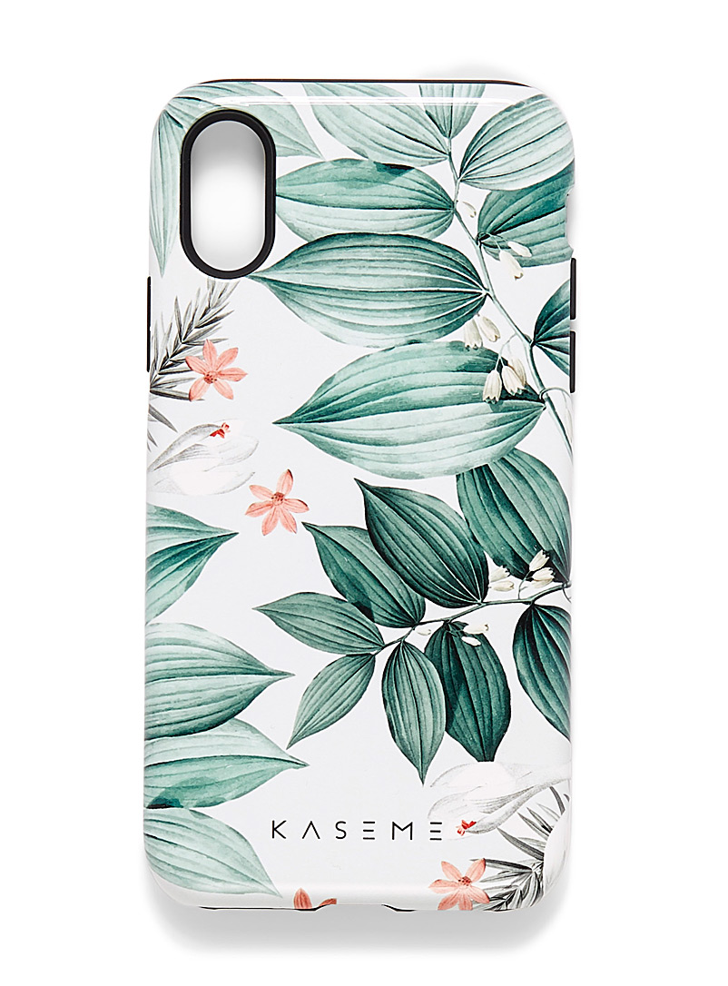 KaseMe Lime Green Trendy pattern iPhone X/XS case for women