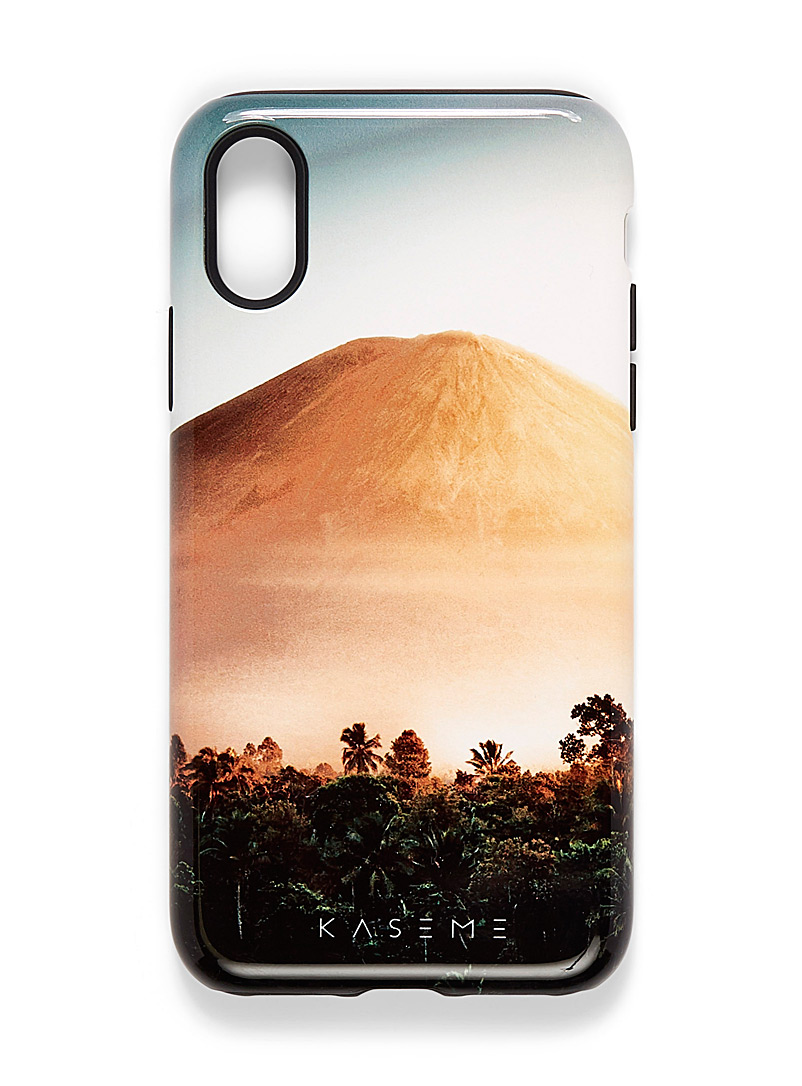 KaseMe Black Spectacular nature iPhone X/XS case for women