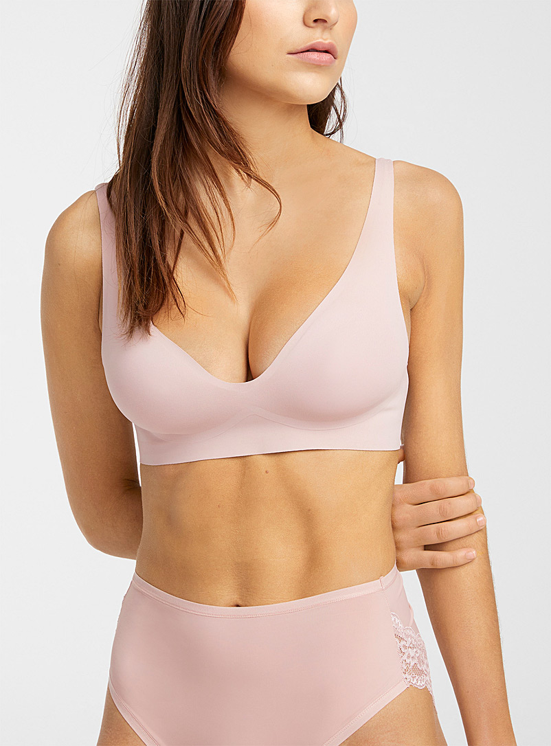 Miiyu Pink Microfibre basic bralette for women