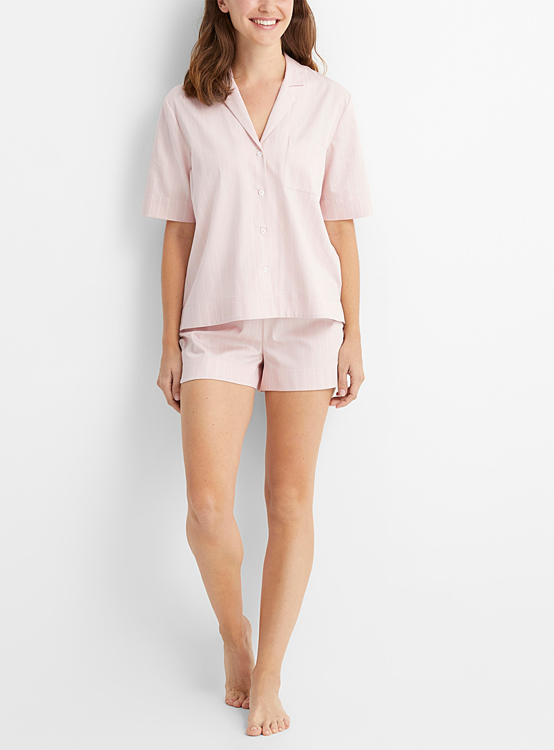 Miiyu x Le Germain Hôtels Dusky Pink Organic cotton boxer pyjama set for women