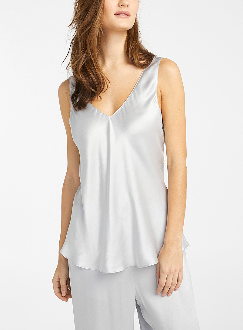 Shimmery pure silk cami