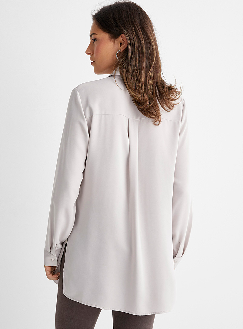 Contemporaine Ruby Red Fluid tunic shirt for women