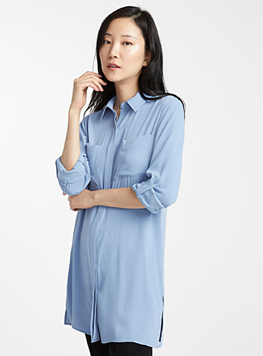 Fluid patch pocket tunic