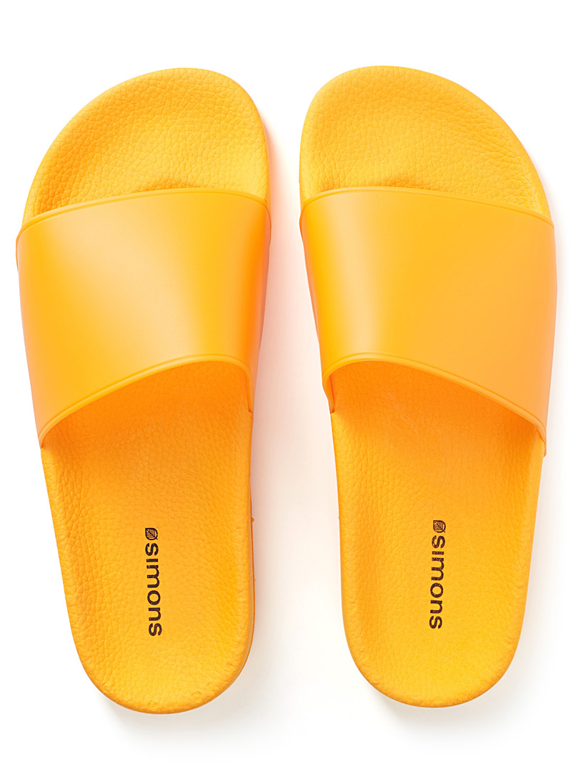Colourful slides - Sandals - Golden Yellow