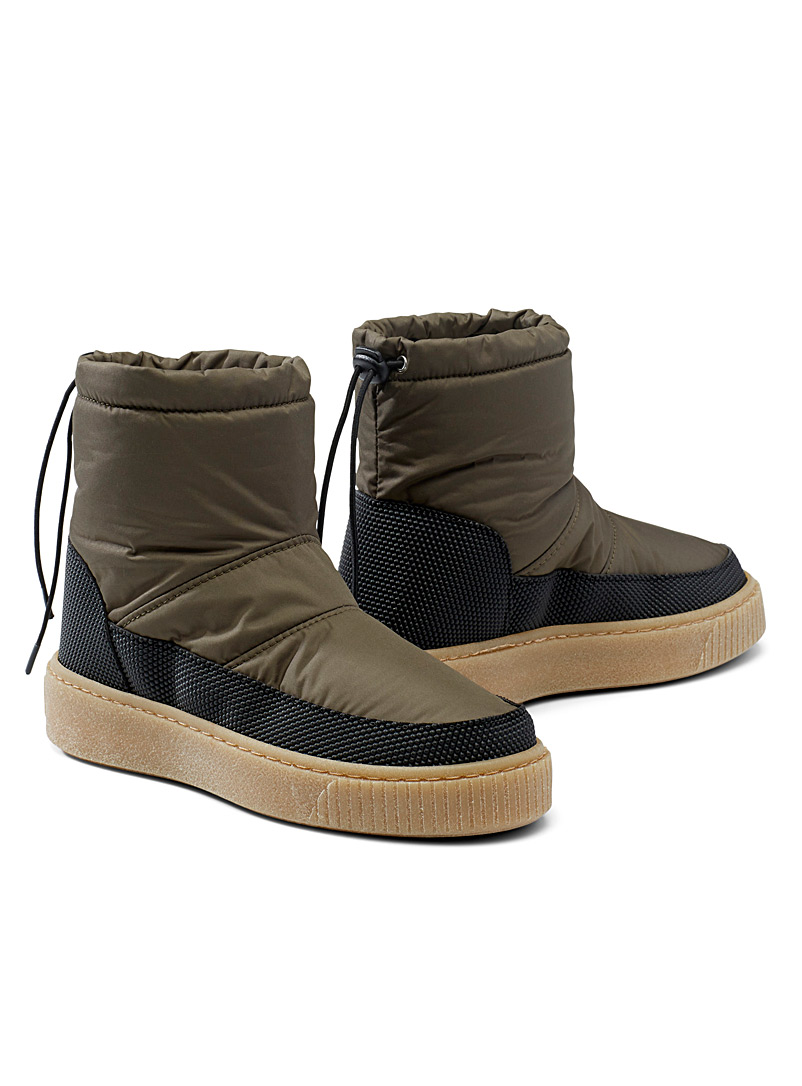 Simons Black Quilted nylon winter boots for women
