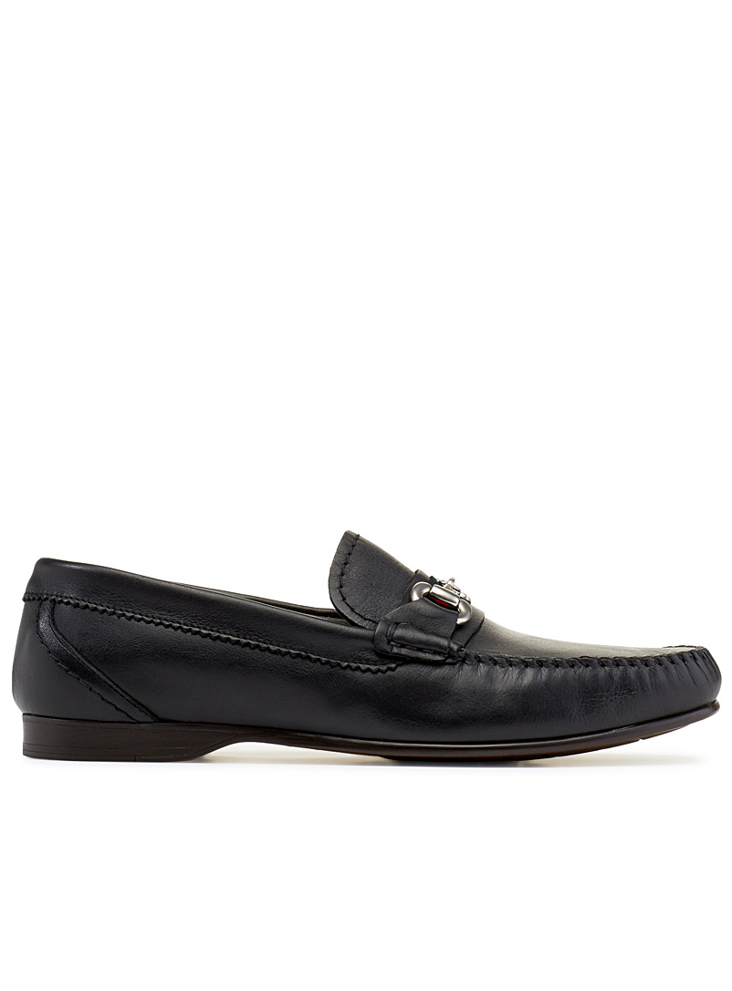 Equestrian accent loafers