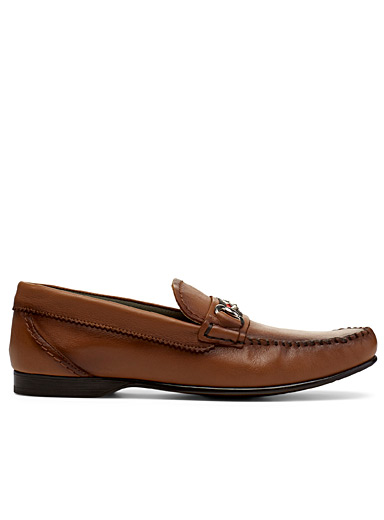 Simons Fawn Equestrian accent loafers for men