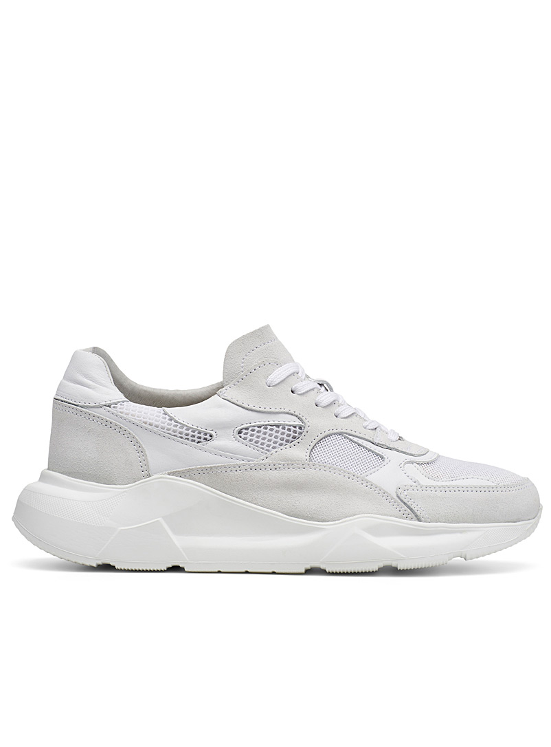 Simons White Monochrome chunky sneakers for men