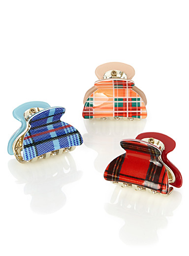 Sophisticated pattern clips  Set of 3