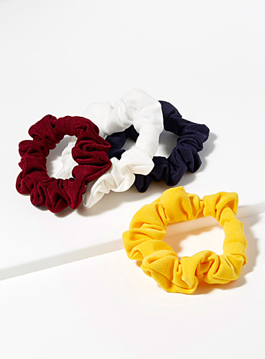 Solid jersey scrunchies  Set of 4