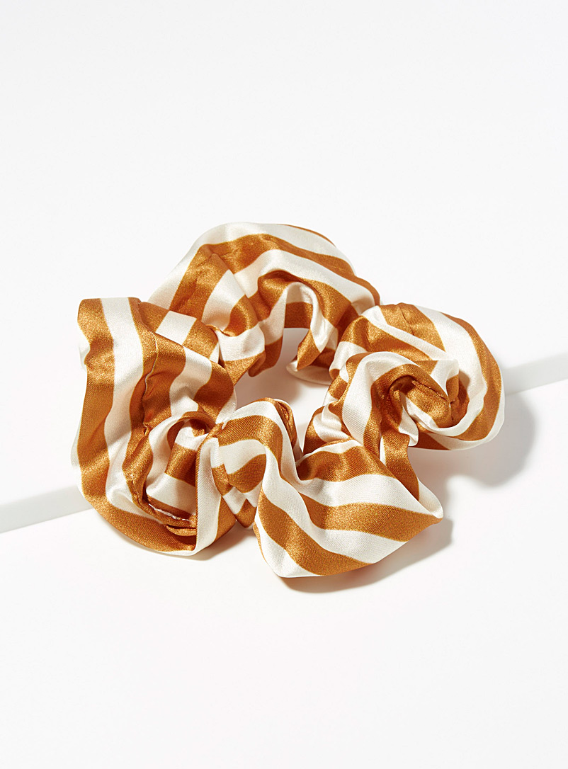 Satiny stripe scrunchie - Scrunchies - Medium Yellow