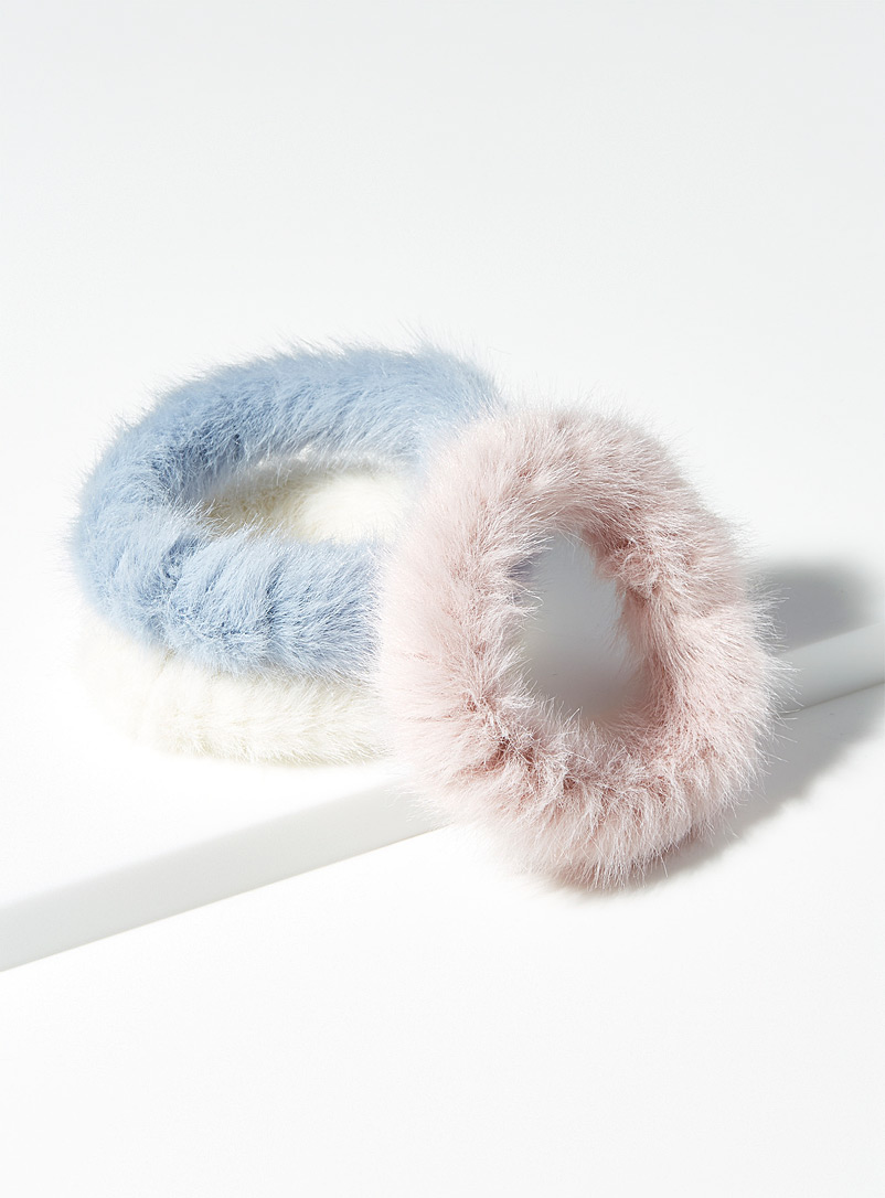 Fluffy scrunchies  Set of 3