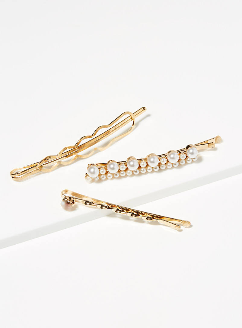 Natural elegance clips  Set of 3