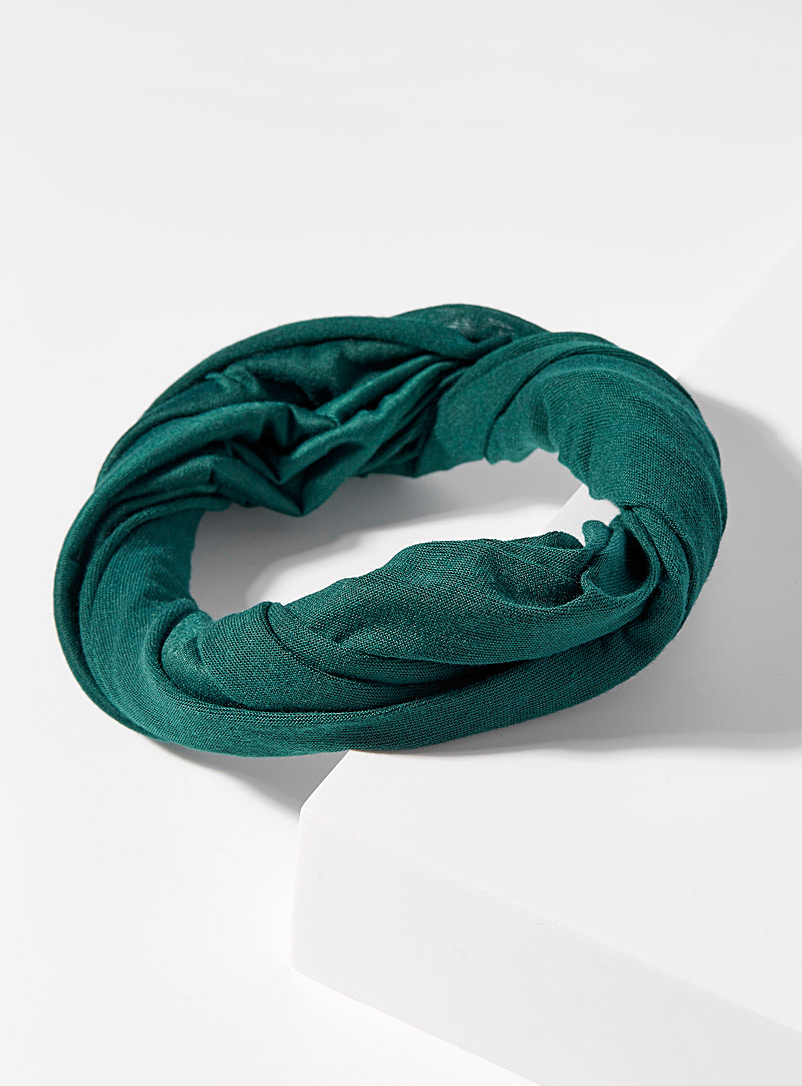 Simons Kelly Green Ultra-light wide headband for women