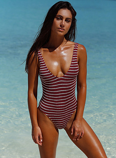 Mara V-neck one-piece