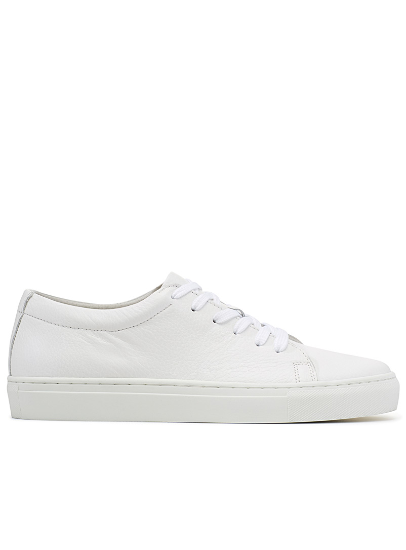 Minimalist leather sneakers - Sneakers - White