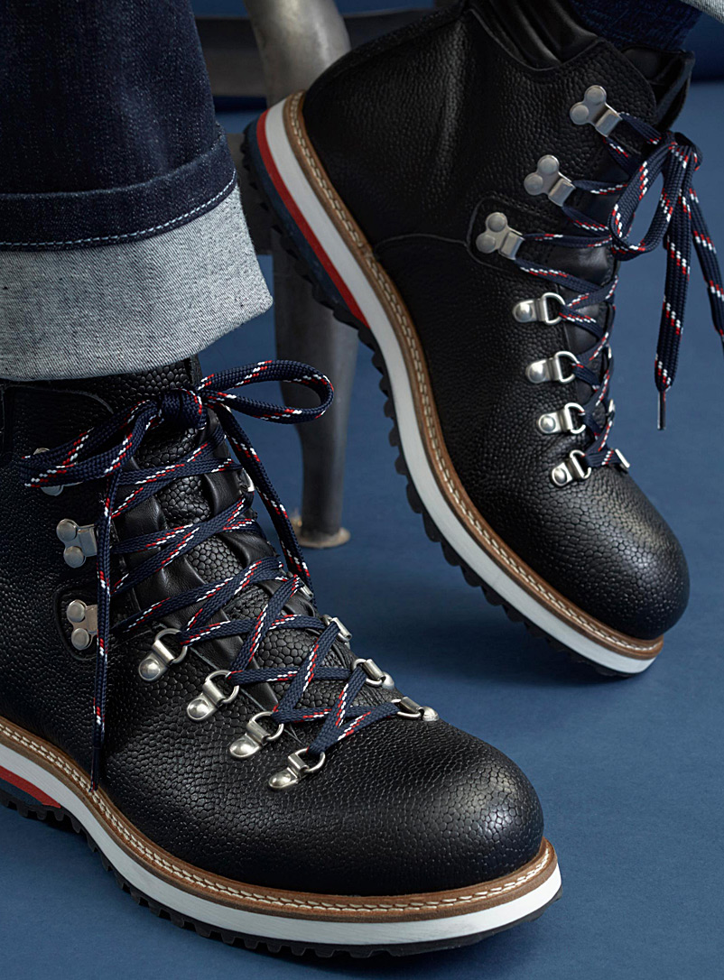 Leather lace-up boots - Boots - Black