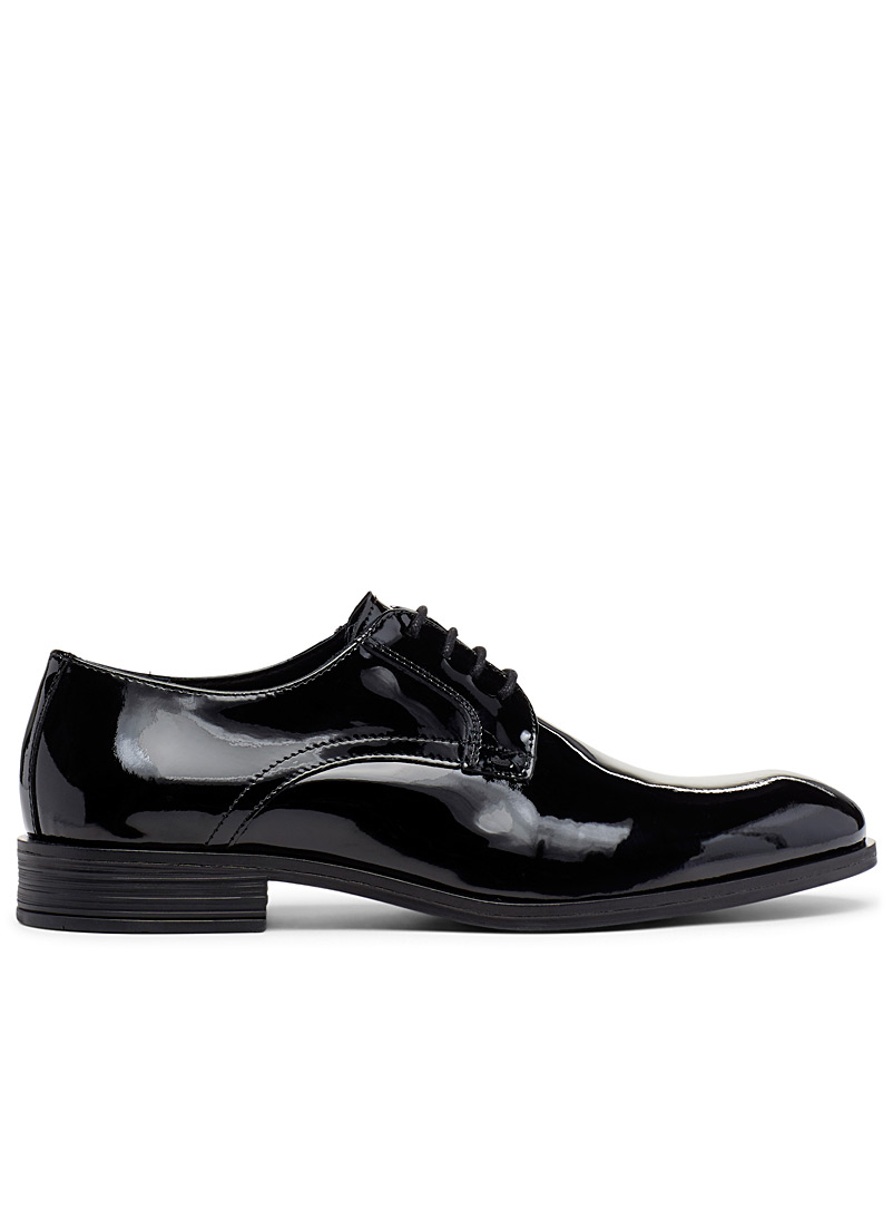Patent leather derby shoes - Dress - Black