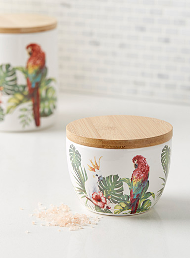 Exotic bird sugar pot