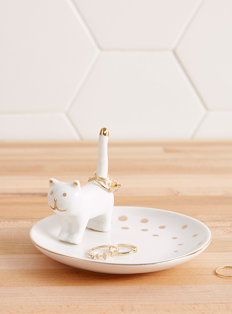 Simons Maison Ivory White Cat on the run tray