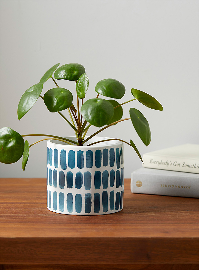Turquoise accent planter
